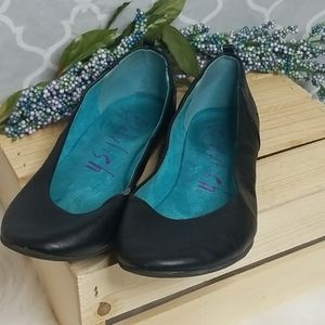 Blowfish leather flats